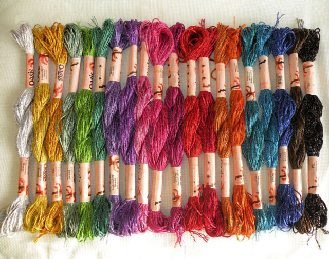 Viscose Metallic Solid Hand Embroidery Thread 20 Skeins Most