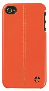 Trexta-Leather-Snap-on-Cover-Classic-for-Apple-iPhone-4-4S-Orange