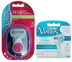 Gillette-Venus-Snap-Rasierer-Etui-4-Embrace-Sensitive-Klingen-Set-1-4-5
