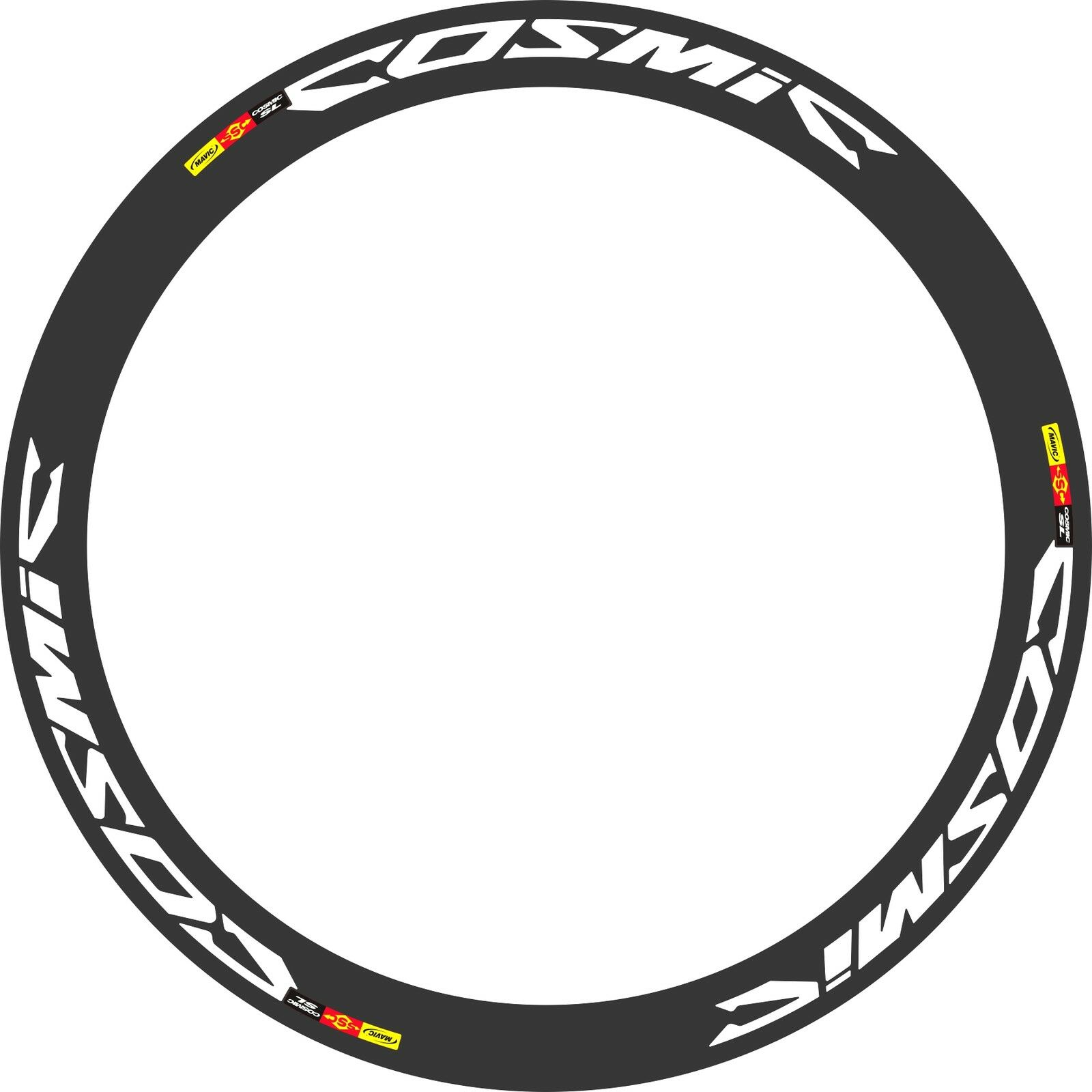 REFLECTIVE MAVIC COSMIC SL DECAL SET FOR TWO WHEELS