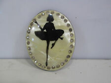 Vintage Celluloid Ballerina Brooch w/Rhinestones #2