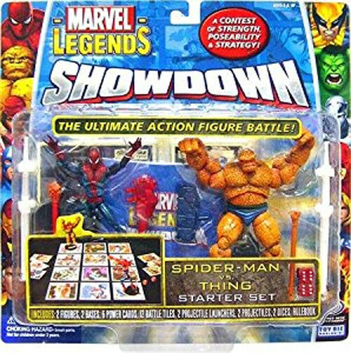 Marvel Comics Universe Universe Universe scale SHOWDOWN  SPIDERMAN v THING 3.75  figures toy RARE ecdc89