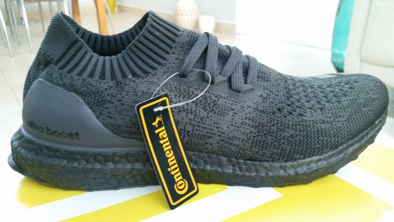 Adidas Ultra Boost Boost Boost Uncaged Triple Black sz 11.5 BA7996 limited rare 061c08