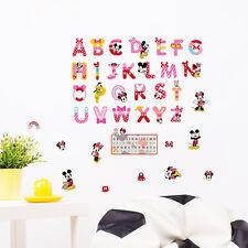 Cartoon Mickey Mouse Alphabet Wall Sticker Vinyl Decals Mural Kids Nursery Decor