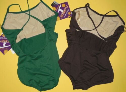 NWT Body Wrappers P452 Cross Over Front Camisole Leotard 2 colors offred ch//adlt