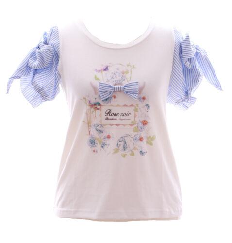 Lolita Ruban Tp shirt Fleurs Rose 102 Blanc Pastel Bleu Roses Gothique T Doux qv8EvSWwAn