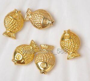 Wholesale 60pcs Tibetan Silver Antique Gold Fish Charms