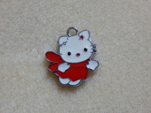 Personalisiert Tasche Etikett Bagtag Schlüsselring Hello Kitty