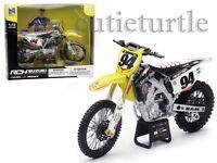 Ray Suzuki Rm-z450 Dirt Bike Motorcycle 1:12 94 Ken Roczen Yellow 57747