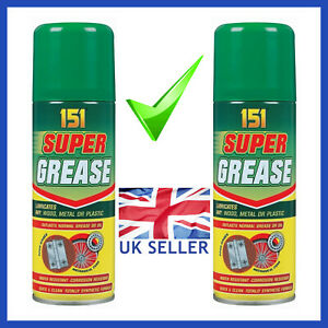 2-x-Super-Grease-Spray-Aerosol-Lubricate-Can-Oil-Corrosion-Water-Resistant-150ml