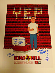 KING-OF-THE-HILL-CAST-SIGNED-X4-AUTOGRAPHED-12X18-PHOTO-POSTER-MIKE-JUDGE-ADLON