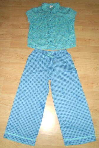 Nouveau mini boden filles turquoise coton pyjamas d/'été Floral cocher définir toutes les tailles