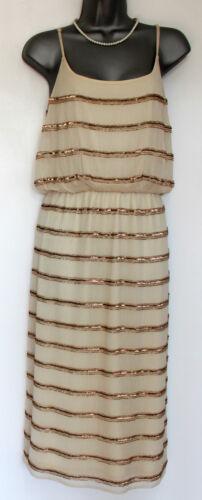 ᄄᄂ Ivory Kitty Dress Ceinture paillettes Monsoon 3AjL45R