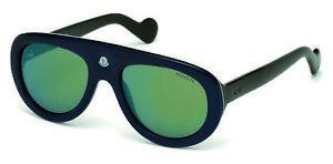 Details about Moncler Blanche Sunglasses ML 0001 92Q BlueGren wGray Green Mirr lens 55mm