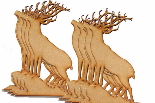 Pack of 10 50mm High MDF baying Stag blanks for embellishing your project #02
