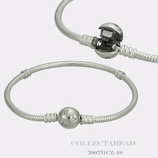 """Authentic Pandora Silver Disney Mickey Bracelet Clear CZ Lock 6.7"""" 590731CZ-17"""
