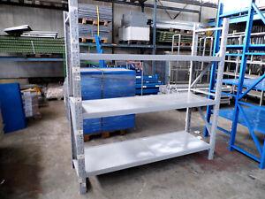 Weitspannregal Fachbodenregal Länge 3.666 mm Höhe 2.000 x 600 mm Fachlast 100 kg