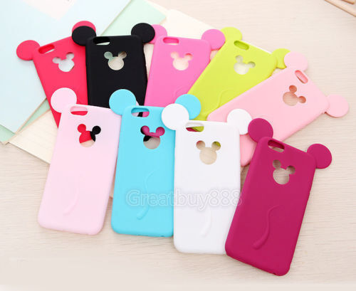 3D Cartoon Cute Lovely Soft Silicone Cover Phone Case for iPhone 5S 6S 7 8 Plus