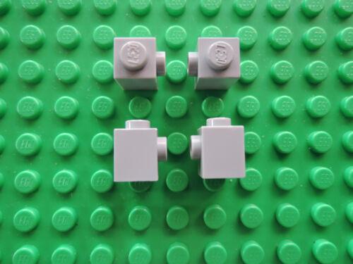 Noppe LEGO 10 x Stein Konverter 87087 neu hellgrau 1x1 mit 1 seitl