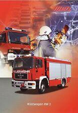 Prospekt Metz Rüstwagen RW 2 Feuerwehr 6 00 2000 fire truck Feuerwehrwagen LKWs