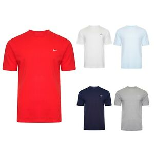 Nike-New-Mens-T-shirt-Logo-T-Shirt-Swoosh-cotton-tee-Size-S-to-XXL