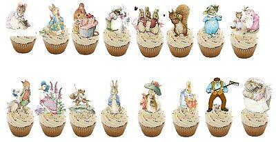 17 Originale Peter Rabbit Stand Up Commestibili Cupcake Topper Decorazioni Commestibili- Sconto Del 50