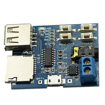 TF Card U-disk MP3 Format Decoder Board Amplifier Decoding Audio Module Player