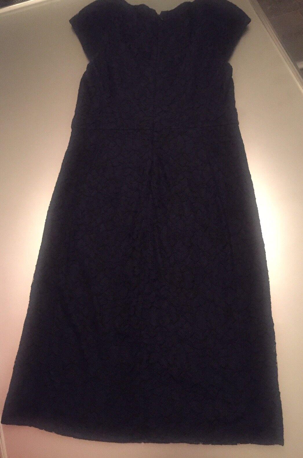 Diane von Fürstenberg Kleid Cocktailkleid Neu mit Etikett in Navy Blau Gr. 10
