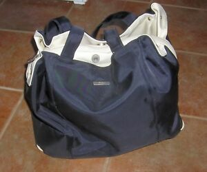 Details About Catini Diaper Bag Tote Carrying Black Beautiful Smoke Free
