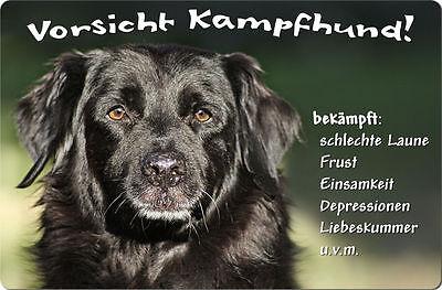 FLAT COATED Retriever FCR 02 T13 Metall WARNSCHILD Schild Hundeschild Sign ++