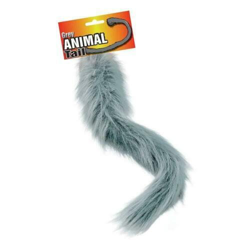 Animal Queue gris marron blanc Donkey Wolf Singe écureuil renard chien robe fantaisie