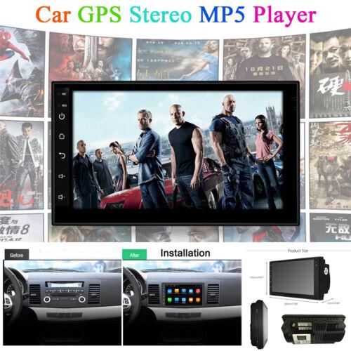 """7/"""" Android 7.1 2Din Car Stereo Radio Player GPS Navi BT Wifi OBD DAB DVB DVR TV"""