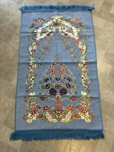 Islamic-Muslim-Prayer-Rug-Carpet-Mat-Tassel-Tapestry-Islamic-Praying-FREE-SHIP