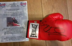 Joe Calzaghe Signed Glove Signed Also By Enzo Calzaghe