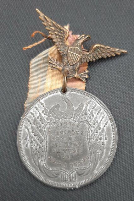 Original Antique Civil War Veterans Medal Identified Soldier General US Grant