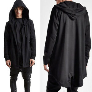 2019-NEW-Mens-Hooded-Cardigan-Long-Sleeve-Coats-Goth-Gothic-Punk-Hoodie-Jacket