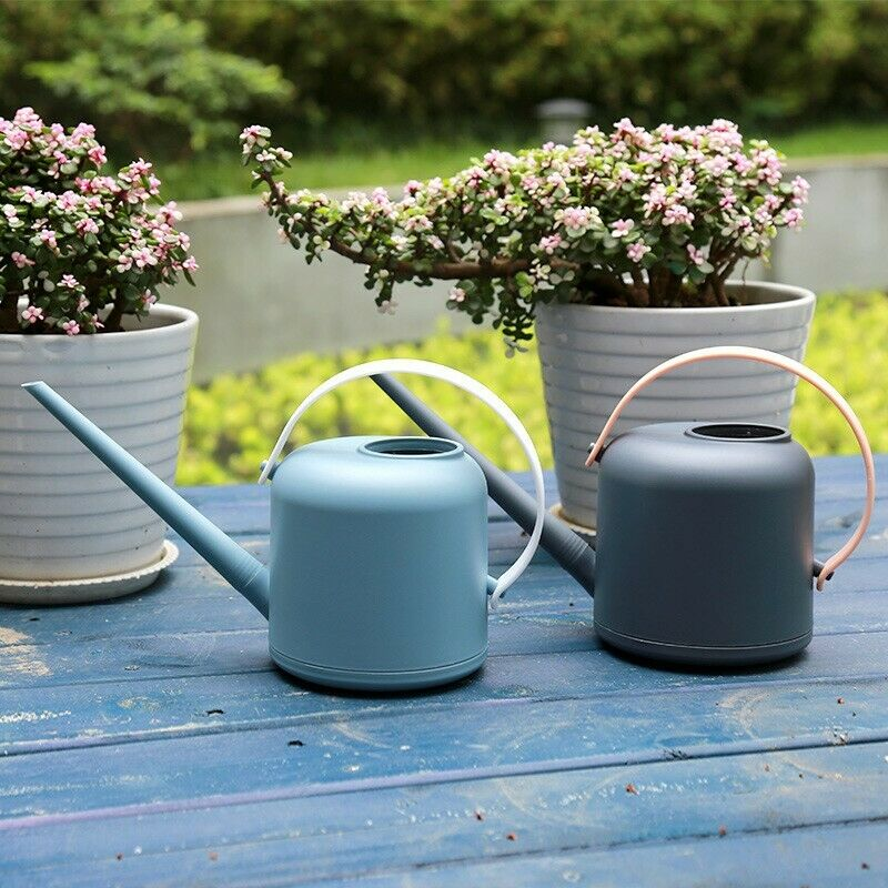 Plastic Watering Can Case Containers Plants Flowers Gardening 1.7L Outdoor Tool