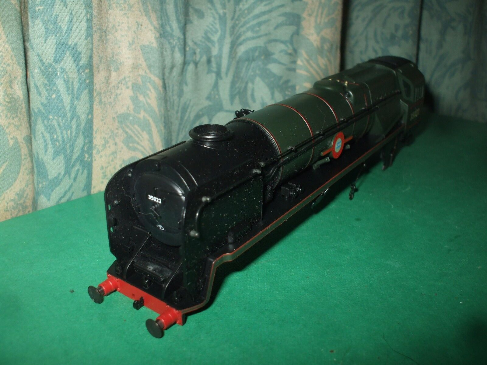 HORNBY EX SR REBUILT MERCHANT NAVY CLASS LOCO BODY ONLY - HOLLAND AMERICA LINE