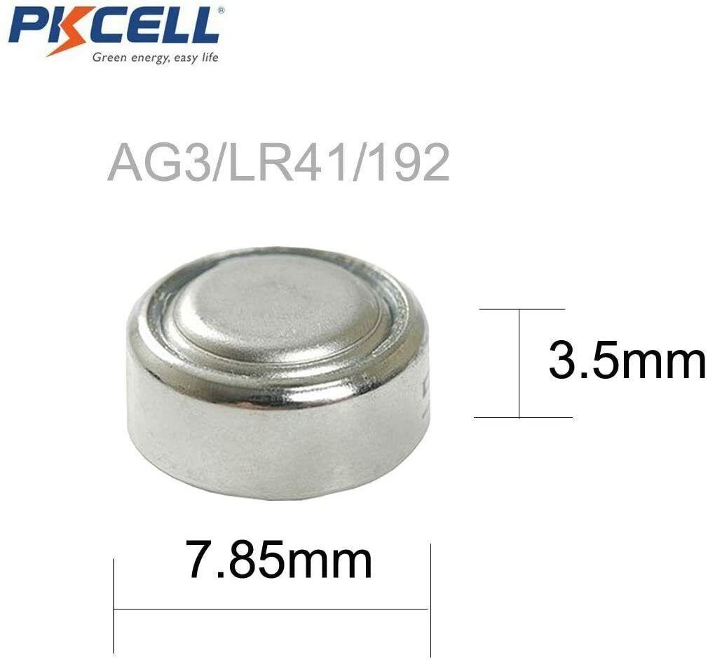 AG3 LR41 L736 RW87 GP192 V3GA Alkaline Cell Button Battery Batteries 30 pieces