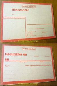 EBS-Germany-1943-WW2-034-Sign-of-Life-034-card-Eilnachricht-Lebenszeichen-red-rot