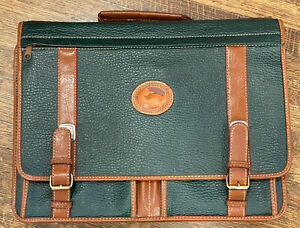 Vintage-Briefcase-Leather-Green-90-s-Should-Strap