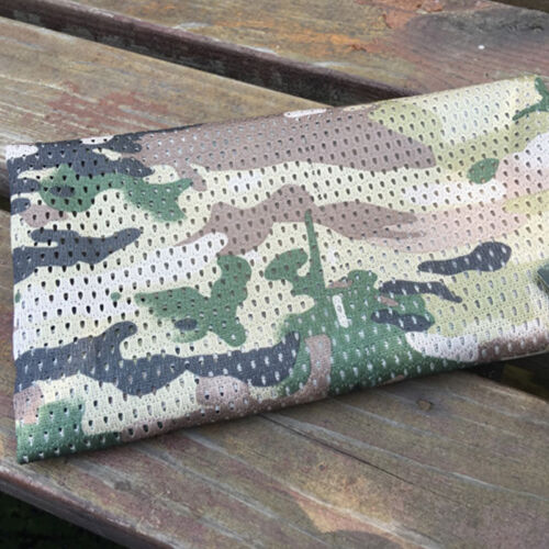 Military Style Camo Mesh Neck Scarf Scrim Net Sniper Face Veil Airsoft Army Warm