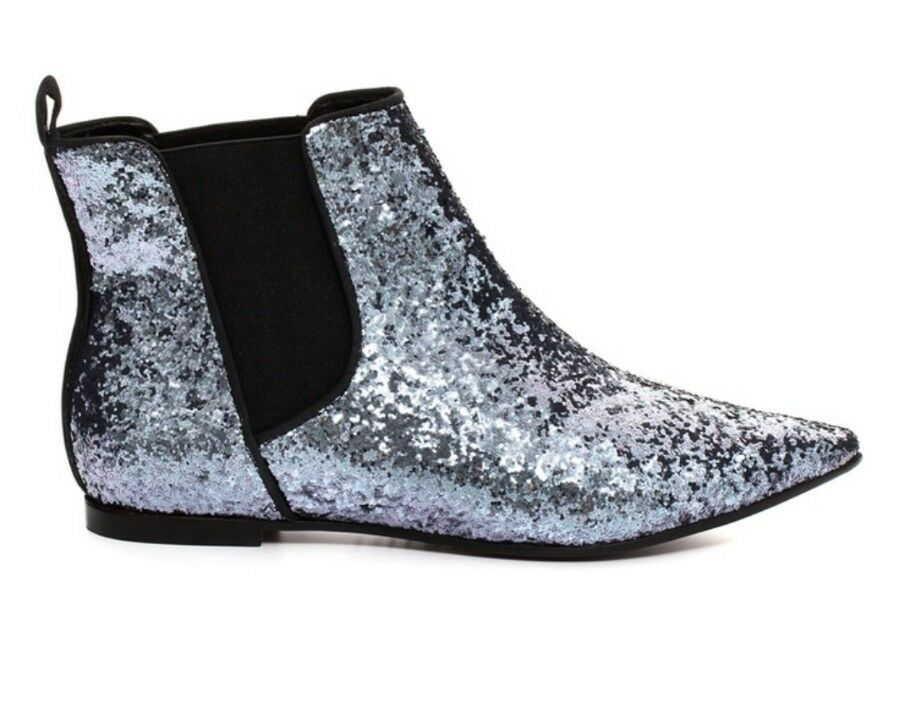 SCHUTZ Pointed toe Glitter chelsea ankle boots shoe size 39