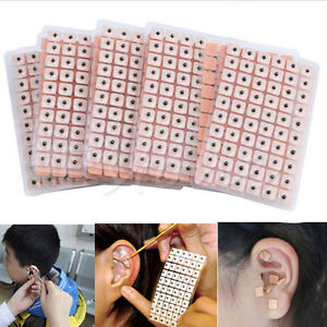600pcs-Massage-Disposable-Ear-Press-Bean-Seeds-Acupuncture-Vaccaria-Plaster-YA