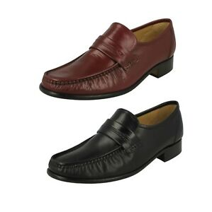Details about  /Thomas Blunt Mens Clapham Leather Classic Moccasin Slip On Shoes