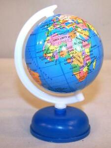 Globe Map Of The World.Details About 2 Medium World Globes On Stand Fund Raiser Earth Globe Map Countrys Maps New