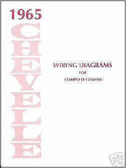 1965 65 CHEVELLE WIRING DIAGRAM MANUAL | eBay