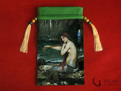 """The Mermaid"" - silk Tarot bag"