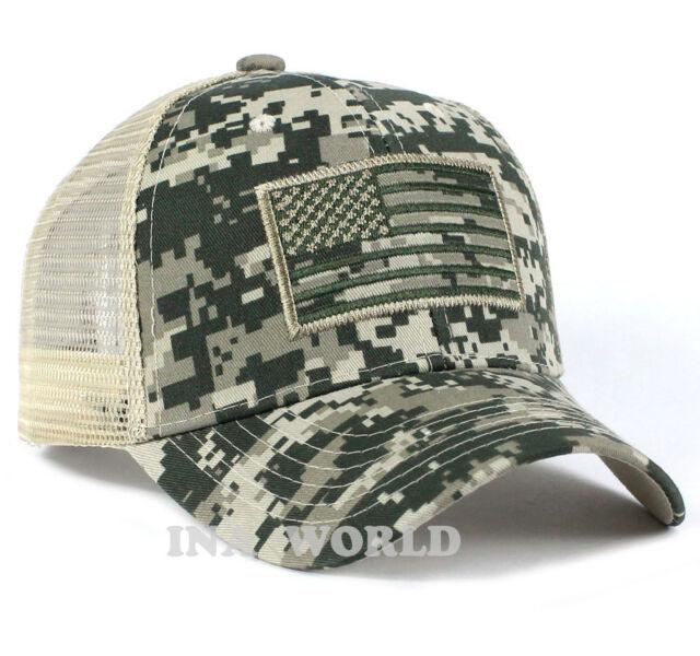 USA American Flag hat Mesh ARMY Tactical Operator Snapback Baseball cap-ACU  camo 8b282676044