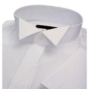 MENS-WHITE-TAILORED-FIT-WING-COLLAR-COTTON-BLEND-WEDDING-DRESS-BLACK-TIE-SHIRT